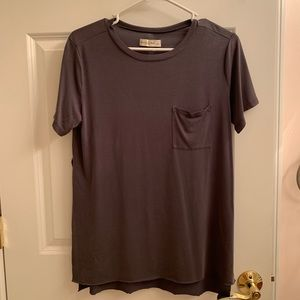 Grey tee with slits on the side